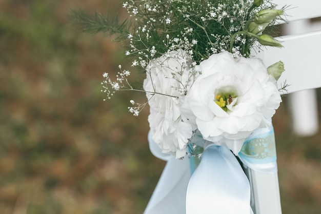 Decorazione di nozze per la cerimonia. cerimonia matrimoniale Foto Premium