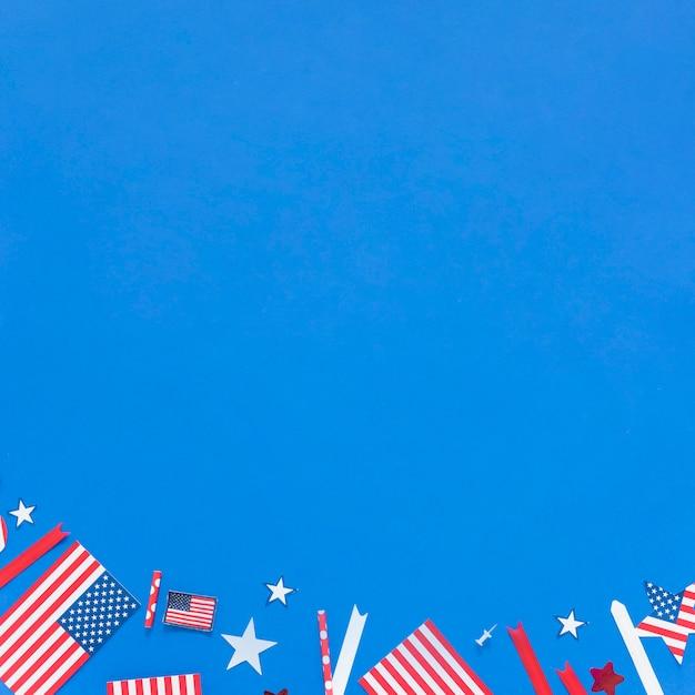 Decorazioni di carta per il giorno dell'indipendenza Foto Gratuite