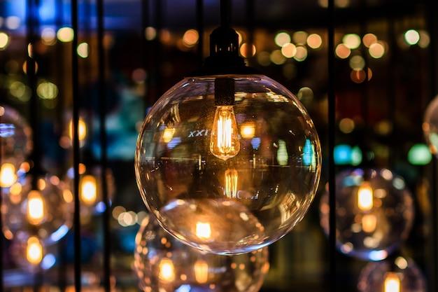 Decorazioni retrò edison light Foto Premium