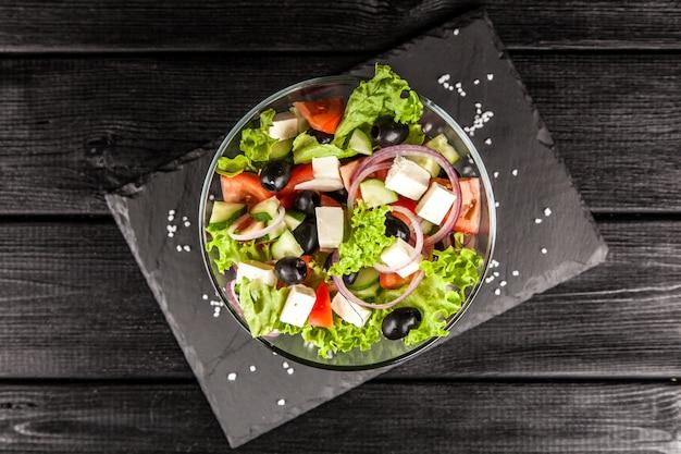Deliziosa insalata greca Foto Premium