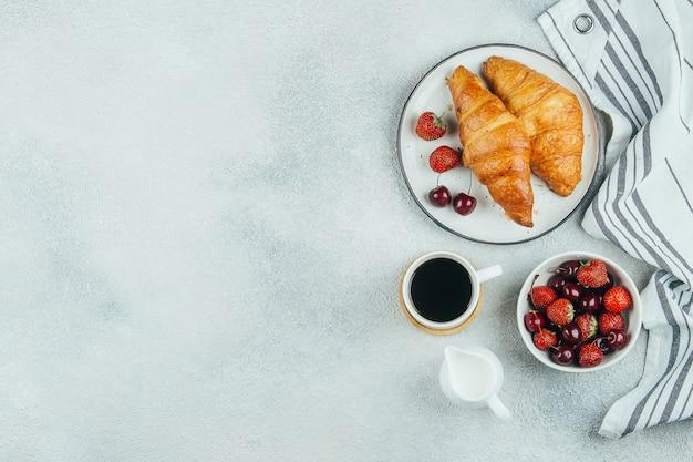 Delizioso concetto di cibo colazione Foto Premium