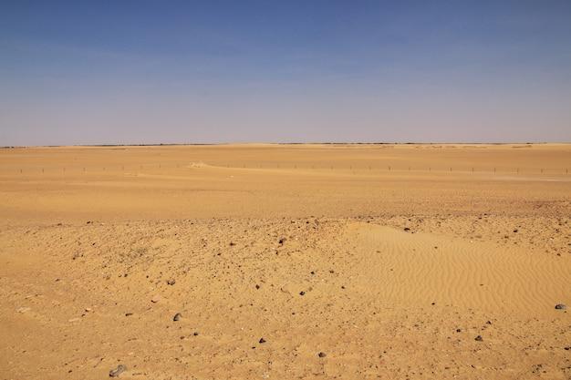 Deserto del sahara in sudan, africa Foto Premium