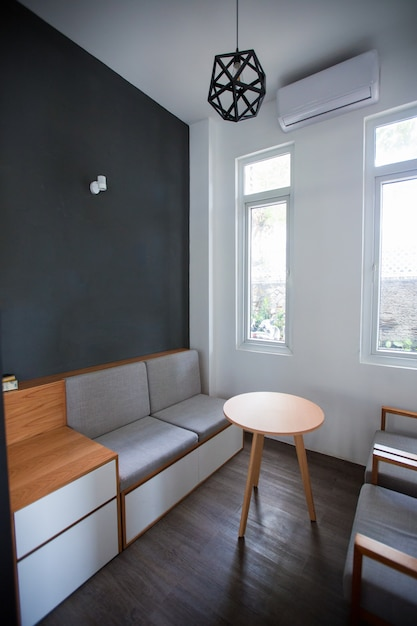Design grigio moderno di piccola stanza scaricare foto for Mobilia lavagna