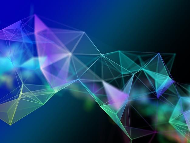 Design moderno del plesso 3d. comunicazioni di rete. techno moderna Foto Gratuite