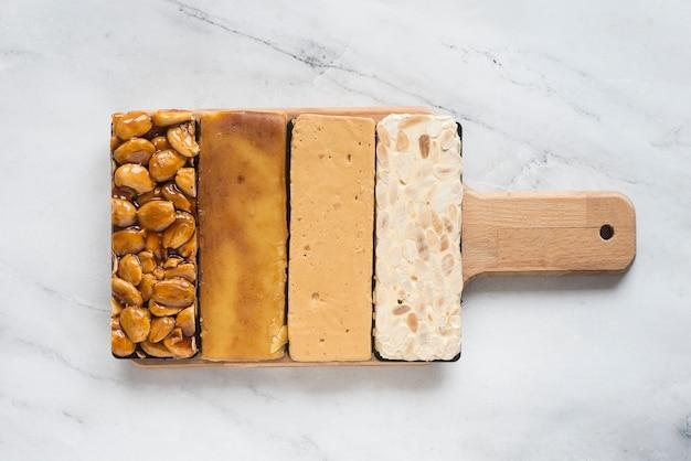 Dessert tipico spagna di turron Foto Premium