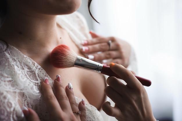 Dettagli di nozze sposa bella Foto Premium