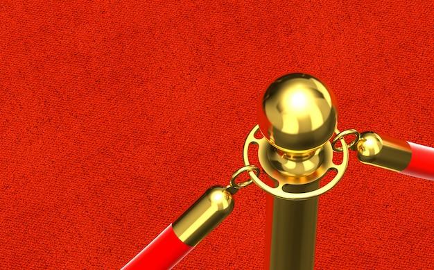 Dettaglio del tappeto rosso Foto Premium