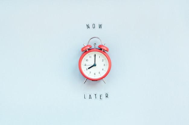 Di procrastinazione e gestione del tempo Foto Premium