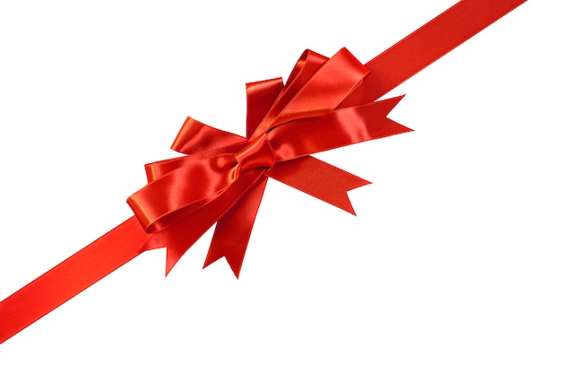 Amato Diagonale fiocco regalo rosso e nastro | Scaricare foto gratis WD97
