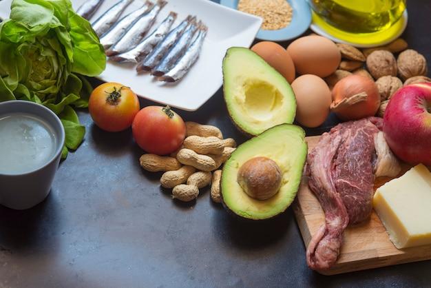 Dieta chetogenica Foto Premium