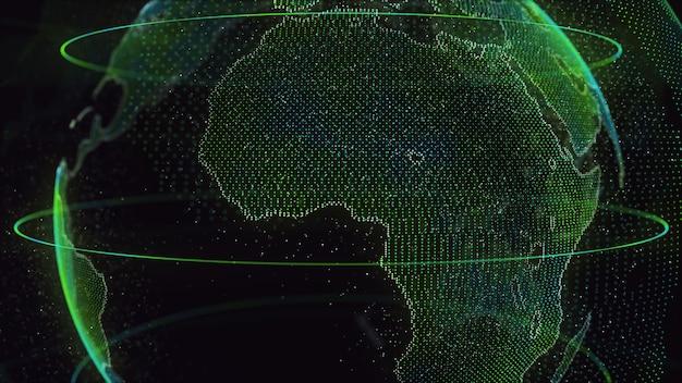 Digital earth global network Foto Premium