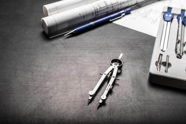 Disegni di pianificazione della costruzione Foto Premium