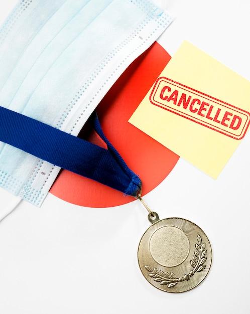 Disposizione annullata evento sportivo Foto Gratuite