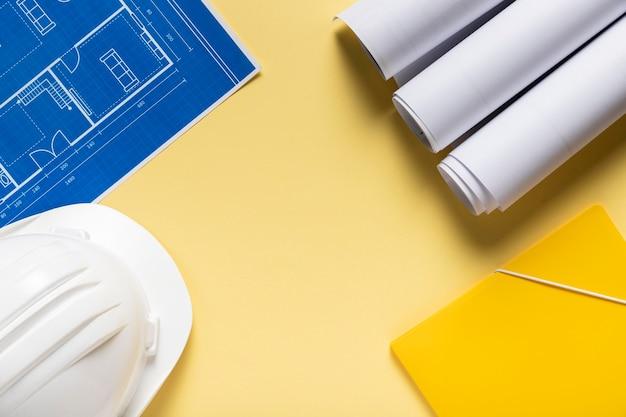 Disposizione di diversi elementi architettonici con spazio di copia Foto Gratuite