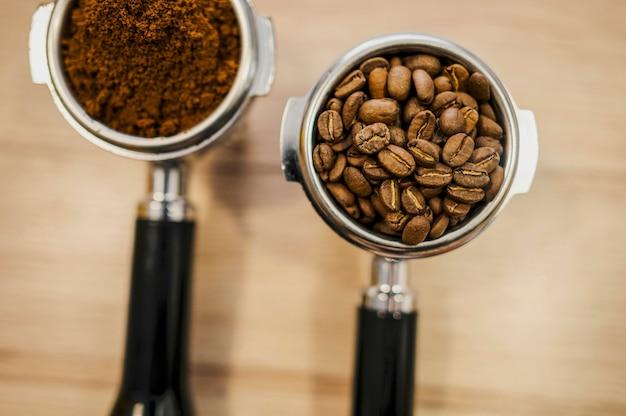 Disposizione piana delle tazze della macchina da caffè Foto Gratuite