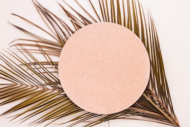 Disposizione piana di carta rotonda sulle foglie Foto Gratuite
