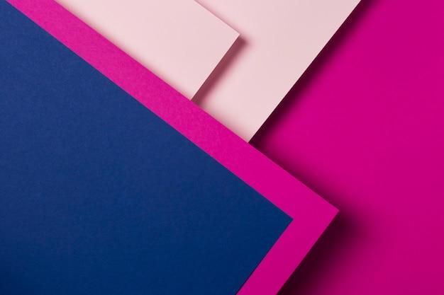 Disposizione piatta di fogli di carta colorata Foto Gratuite