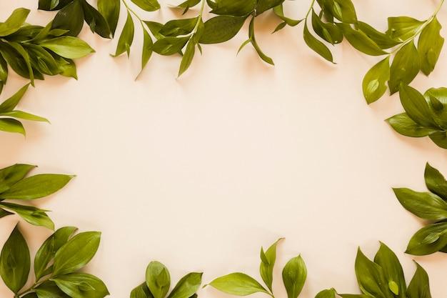 Distesi di foglie con copyspace Foto Gratuite