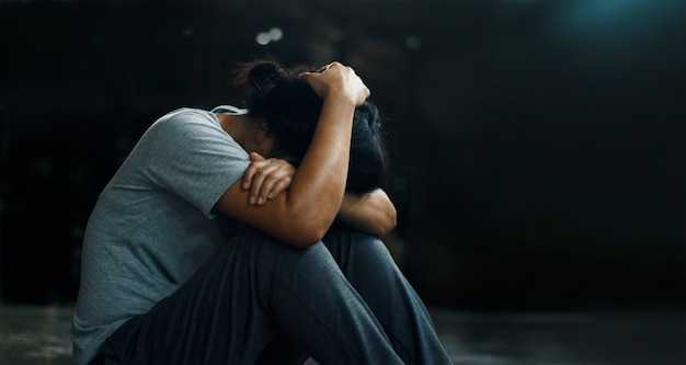Disturbo post traumatico da stress. Foto Premium