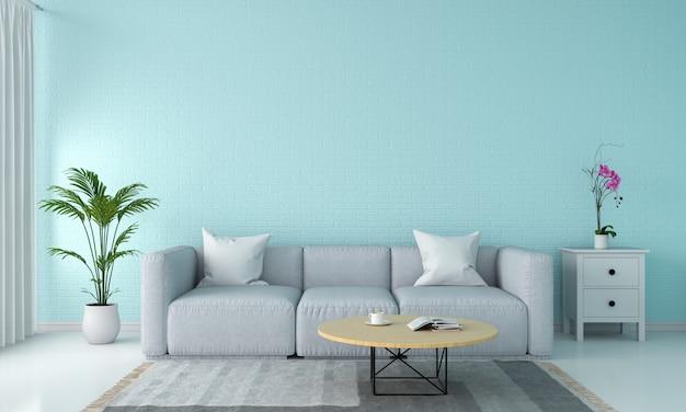Divano grigio nel soggiorno Foto Premium