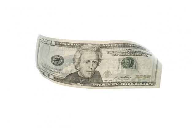 Dollaro americano usd isolato Foto Premium
