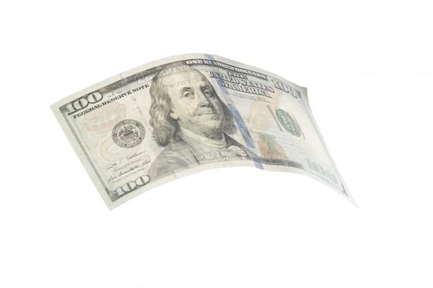 Dollaro isolato su bianco Foto Premium
