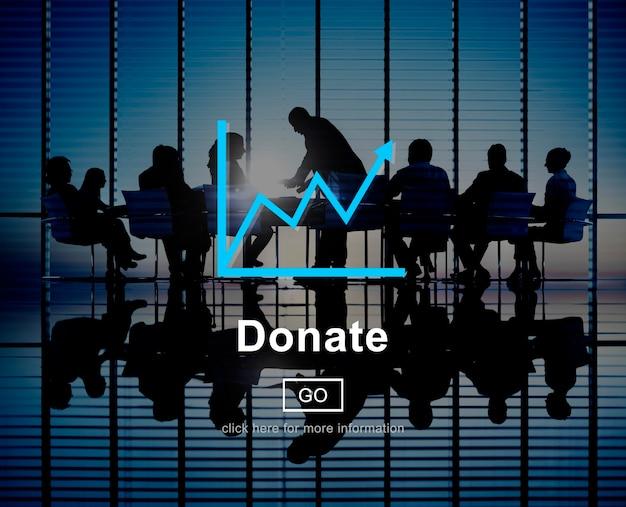 Dona il concetto online del sito web di aiuto della carità Foto Gratuite