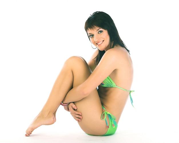 Donna bikini felice Foto Premium