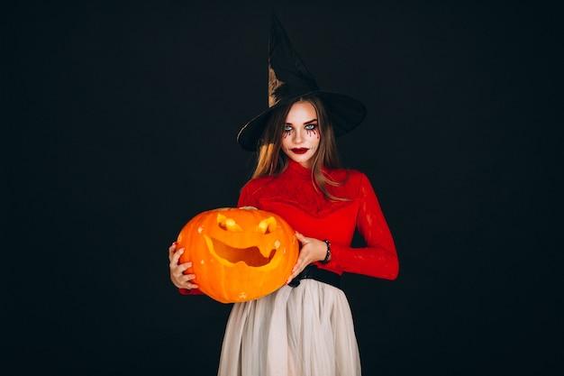 Donna in costume di halloween Foto Gratuite