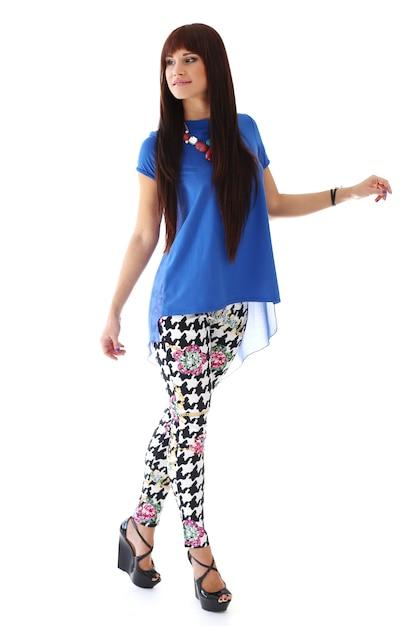Donna in jeans attillati e tacchi Foto Gratuite