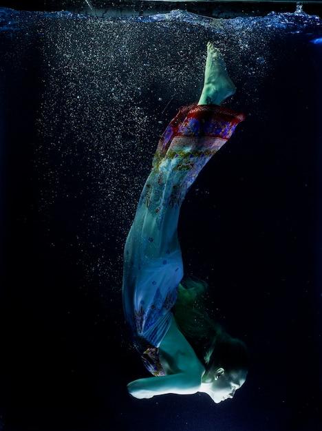 Donna sott 39 acqua ethereal scaricare foto gratis for Incollare sott acqua