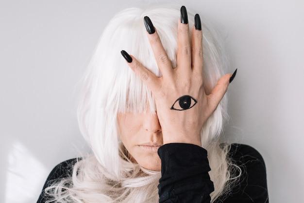 Donna, tatuaggio, occhio Foto Gratuite