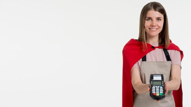 Donna vista frontale con copia-spazio Foto Gratuite