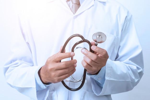 Dottore in bianco Foto Premium