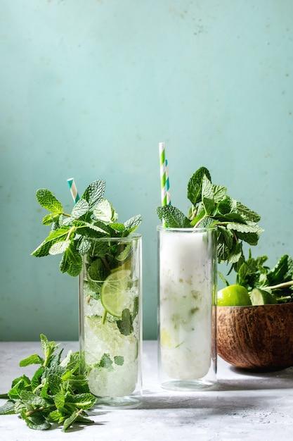 Due cocktail mojito Foto Premium