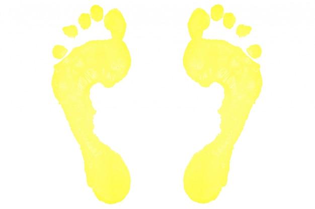 Due impronte gialle Foto Premium