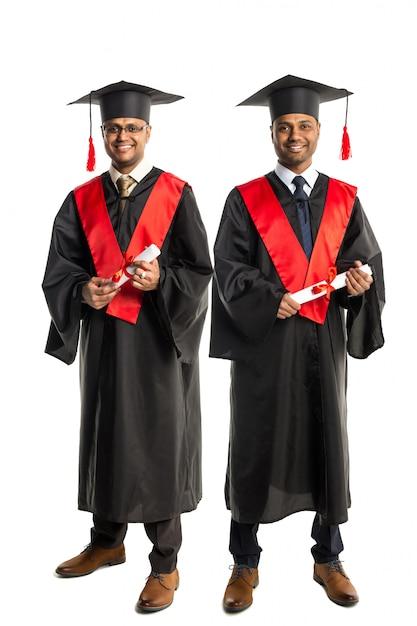 Due laureati afroamericani in abito e cappello Foto Premium