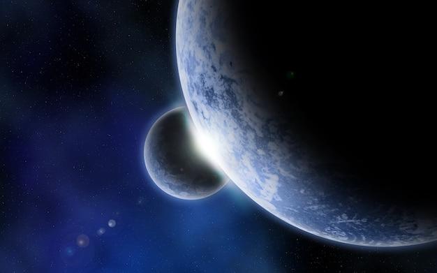Due pianeti nello spazio Foto Gratuite