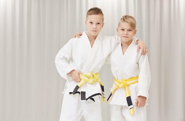 Due soci nel karate Foto Premium
