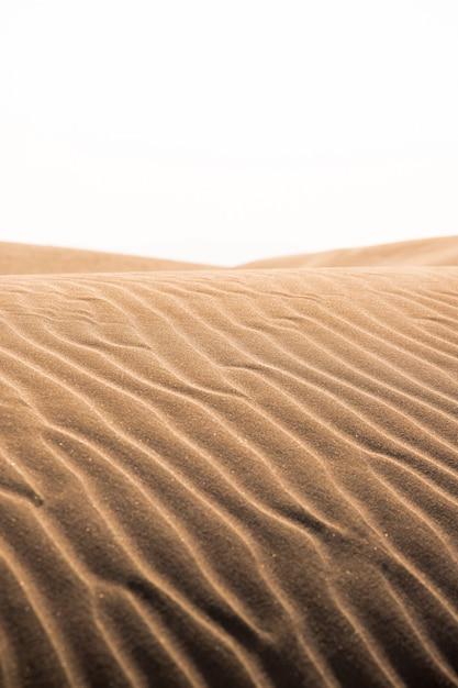 Dune di sabbia calde arancioni in estate nel delta del fiume Foto Premium