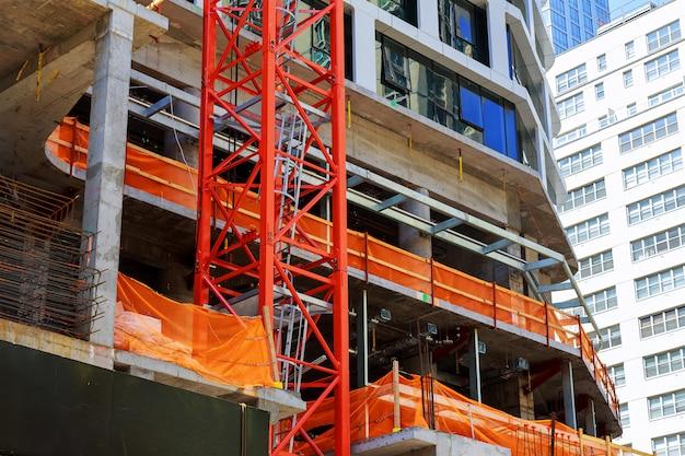 Edificio in costruzione a manhattan Foto Premium
