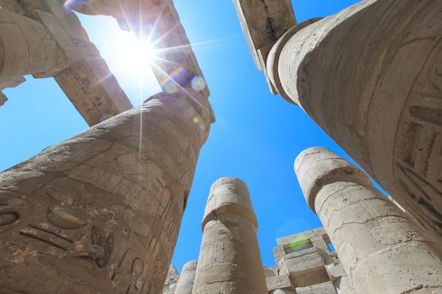 Egitto, luxor, tempio di karnak Foto Premium