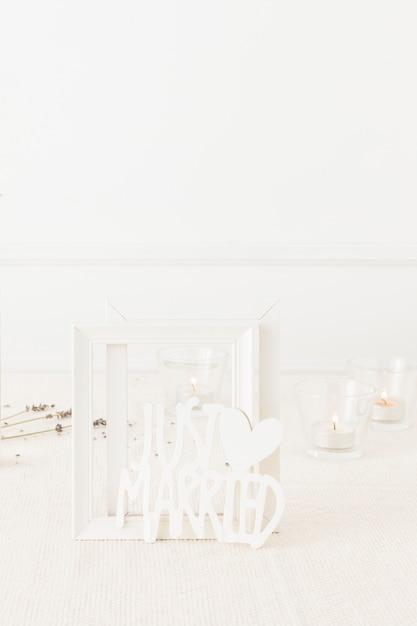 Elementi decorativi di nozze Foto Gratuite