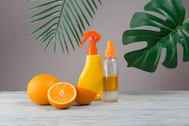 Elementi naturali per spa con arance Foto Gratuite
