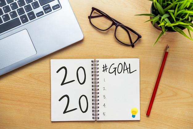 Elenco obiettivi risoluzione anno 2020 risoluzione obiettivi Foto Premium