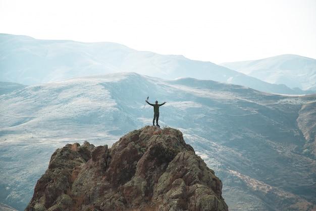 Escursionisti in cima Foto Gratuite
