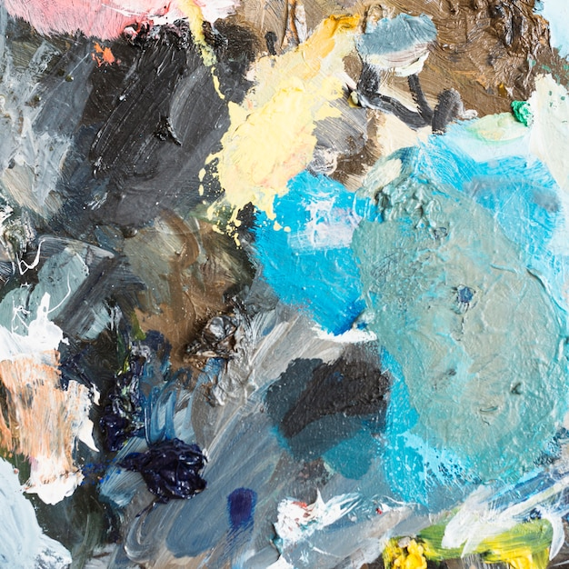 Estratto artistico multicolore della pittura ad olio strutturato Foto Gratuite