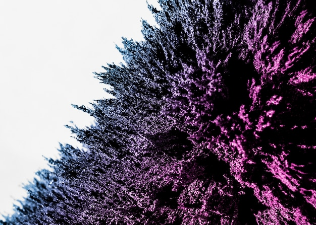Estratto di rasatura metallica magnetica viola e blu sul contesto bianco Foto Gratuite