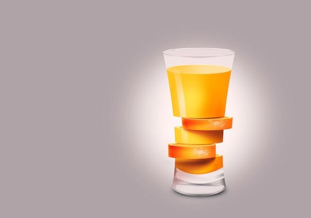 Estratto di vetro arancione Foto Premium