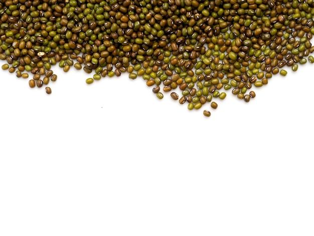 Fagiolo verde o sfondo di fagioli mung Foto Premium
